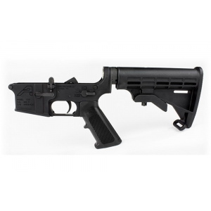 AR15 Complete Lower Receiver, Standard - Anodized Black