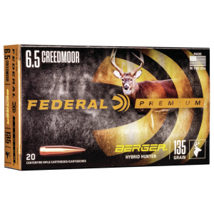Federal Classic Hunter Berger Hybrid Rifle Ammunition 6.5 Creedmoor 135 gr BTHP 2775 fps 20/ct