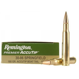 Remington Premier AccuTip Rifle Ammunition .30-06 Sprg 180 gr AT-BT 2725 fps - 20/box