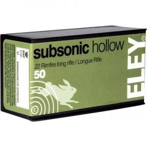 Eley Americas Subsonic Hollow Ammo 22 Long Rifle 40gr Lead Hollow Point