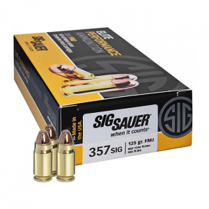 SIG Elite Performance Ball .357 SIG 125 Grain Full Metal Jacket